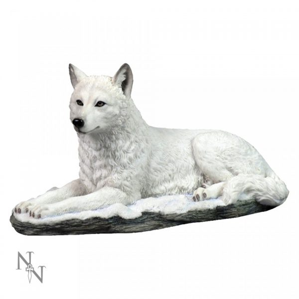 White Shadow Wolf Figure