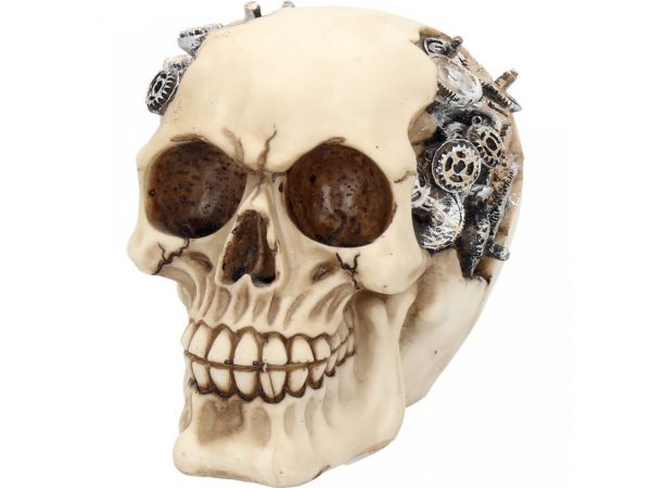 Clockwork Cranium Steampunk Skull Figure