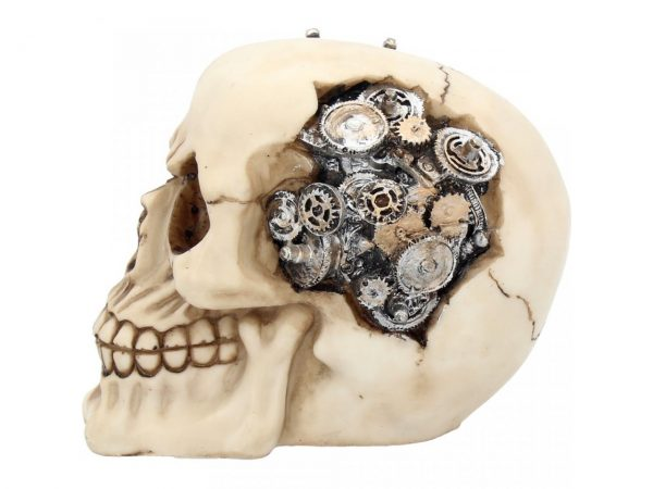 Clockwork Cranium Steampunk Skull Figure
