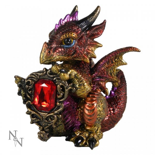 Ruby Dragon Figure