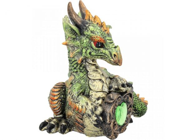 Malachite Dragon Figure