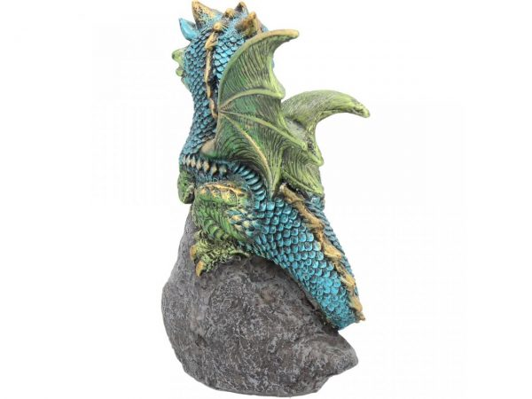 Nest Guardian Dragon Green Figure Geode