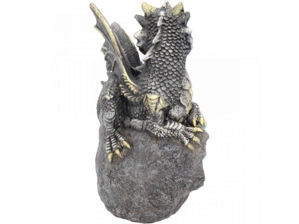 Nest Guardian Dragon Blue Figure Geode