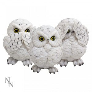 Three Wise Owl Figures