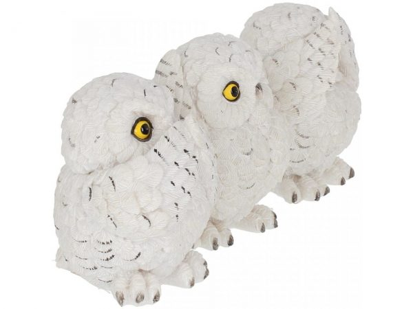 Three Wise Owl Figures