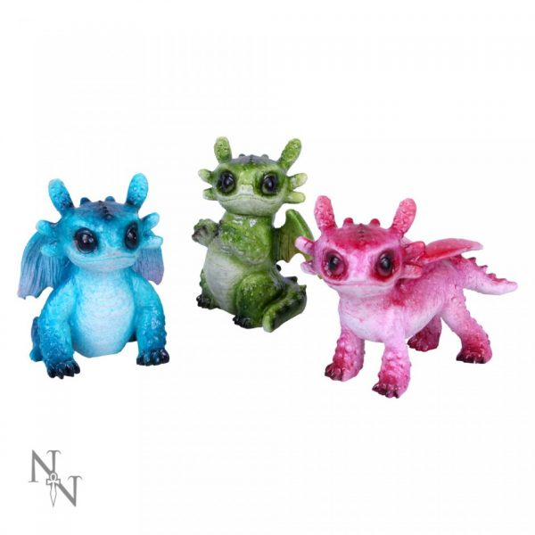 Three Tiny Dragon Figures