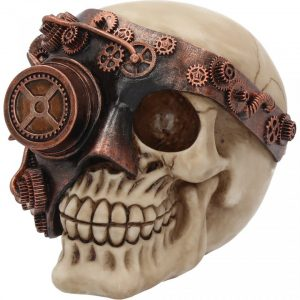 Monocle Man Steampunk Skull
