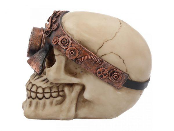 Monocle Man Steampunk Skull