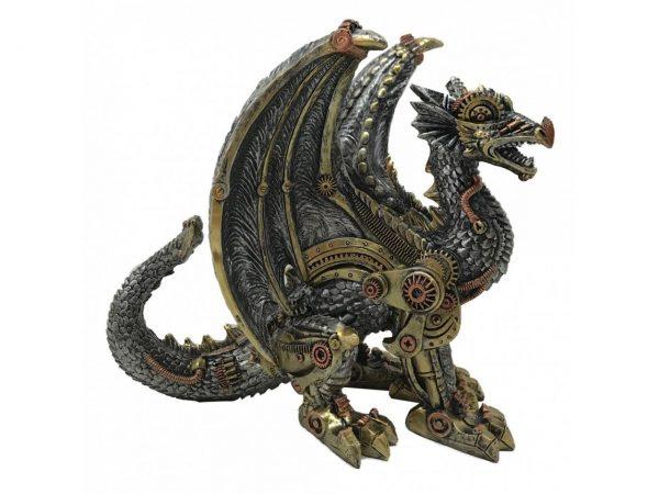 Mechanical Protector Steampunk Dragon Figure