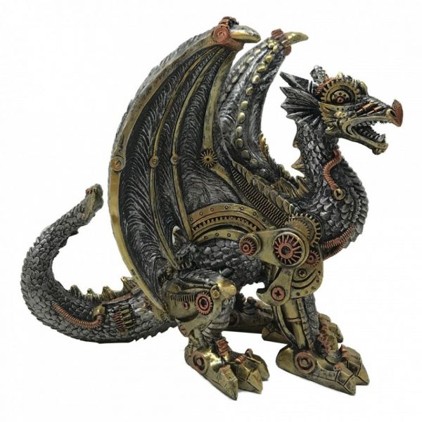Mechanical Protector Steampunk Dragon Figure