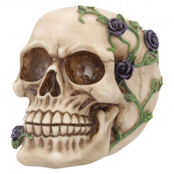 Purple Rose From Beyond Skull Figure