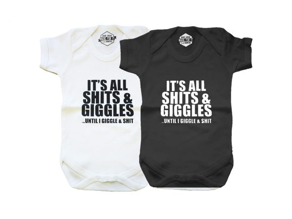 Shits and Giggles Baby Grow Onesie Extreme Largeness