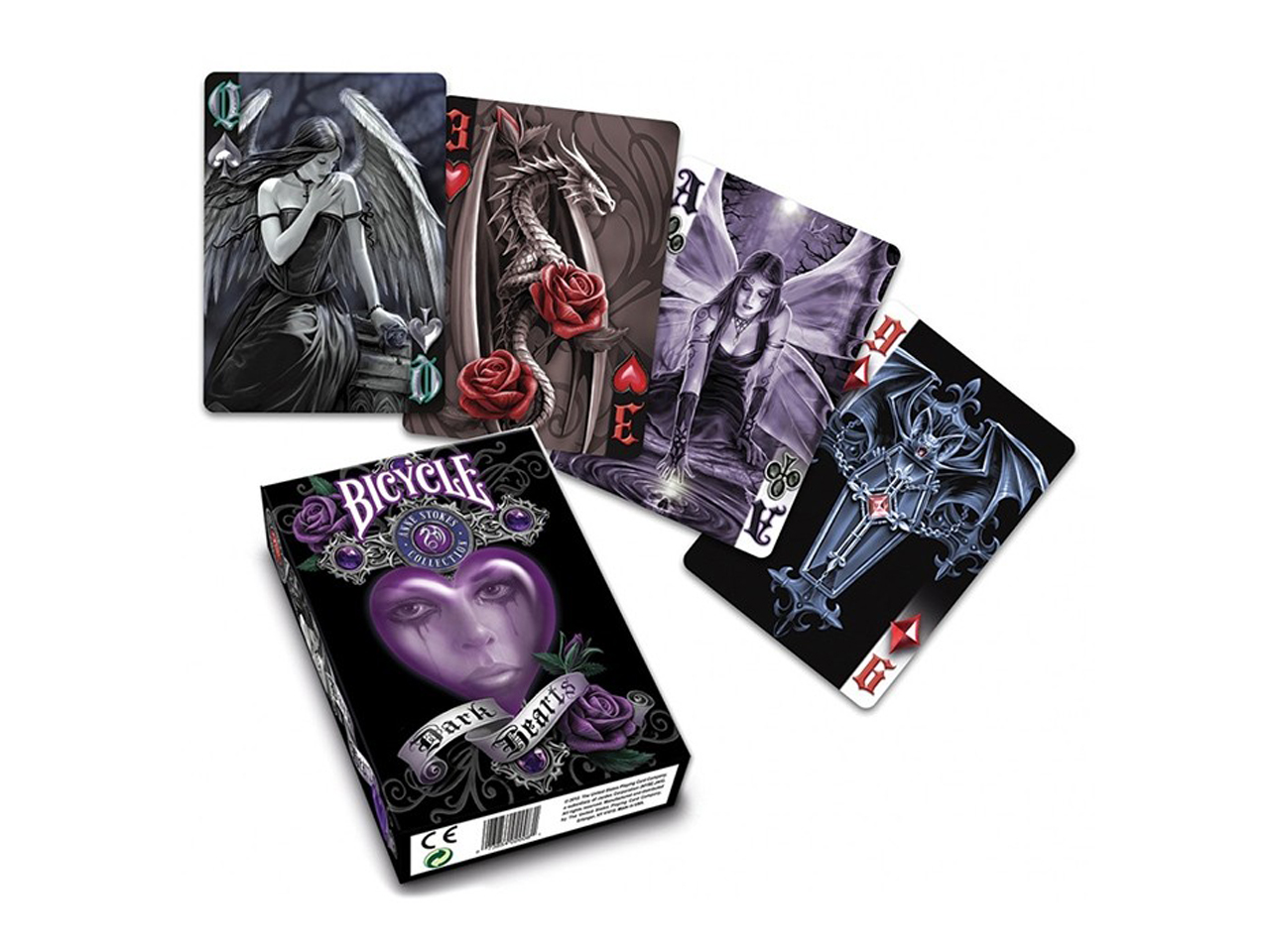 Nemesis Now Anne Stokes Dark Hearts Gothic Playing Cards