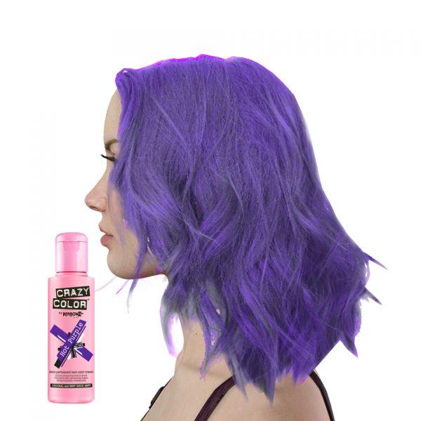 Crazy Colour Hot Purple Hair Dye