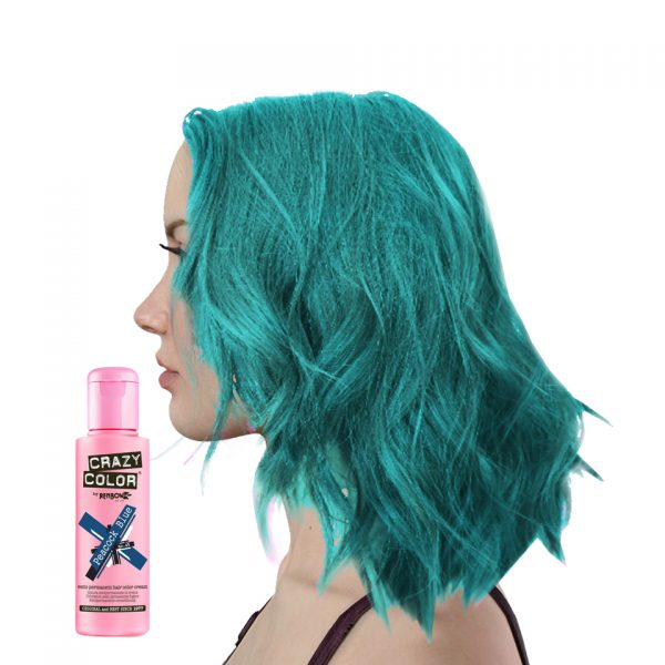 Crazy Colour Peacock Blue Hair Dye