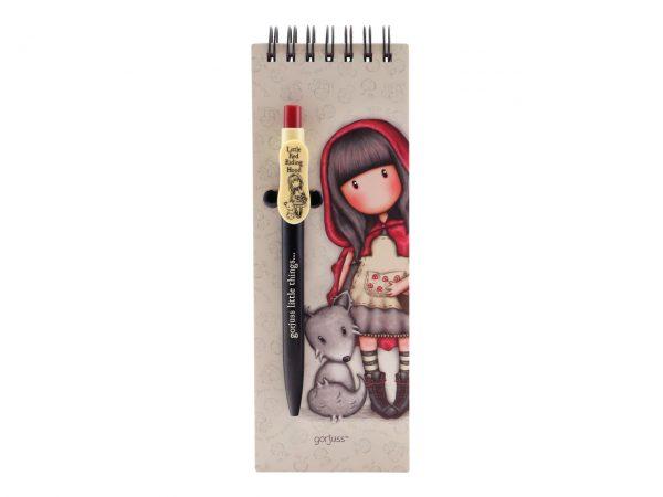 Santoro Gorjuss Jotter with Pen Little Red Riding Hood