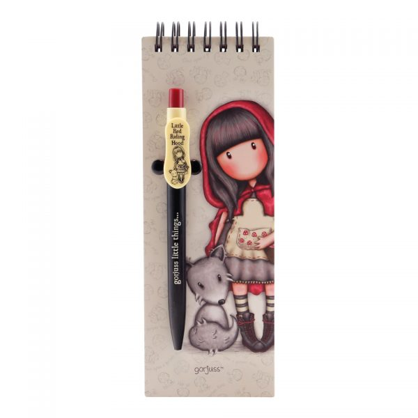Santoro Gorjuss Jotter with Pen Little Red Riding Hood