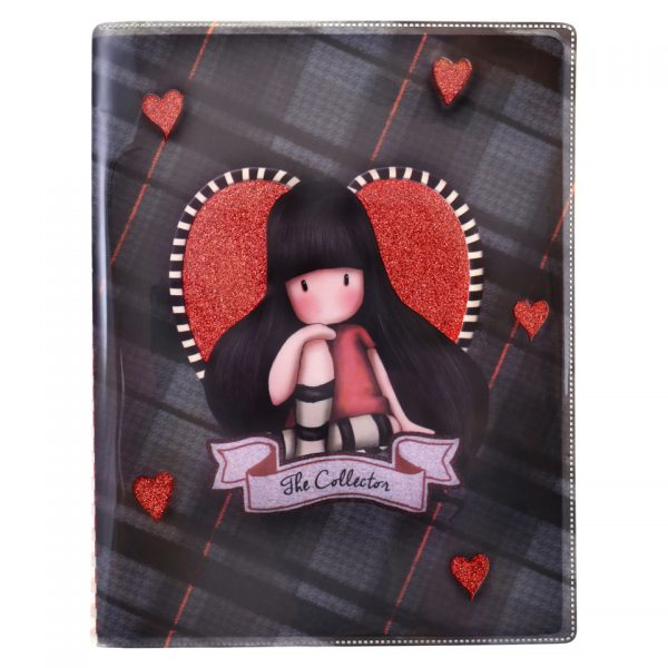 Santoro Gorjuss Tartan Glitter Laminated Notebook The Collector