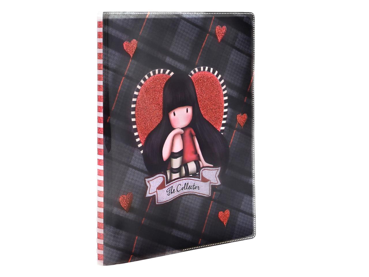 Santoro Gorjuss Tartan Glitter Laminated Notebook The Collector