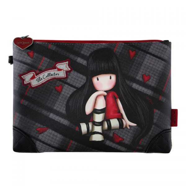 Santoro Gorjuss Tartan Accessory Case Wash Bag Pencil Case The Collector