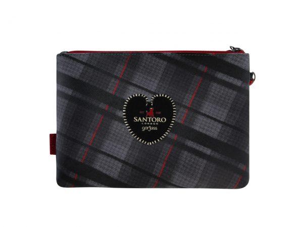 Santoro Gorjuss Tartan Accessory Case Wash Bag Pencil Case The Collector
