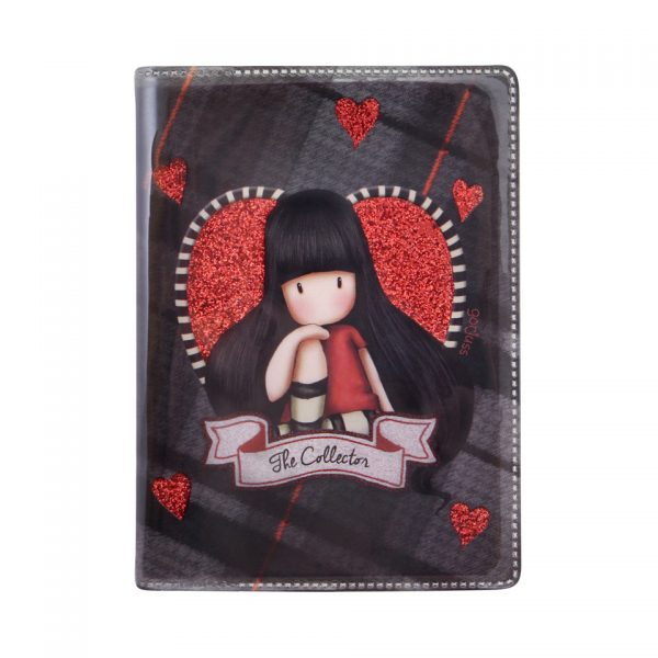 Santoro Gorjuss Tartan Mini Glitter Laminated Notebook The Collector