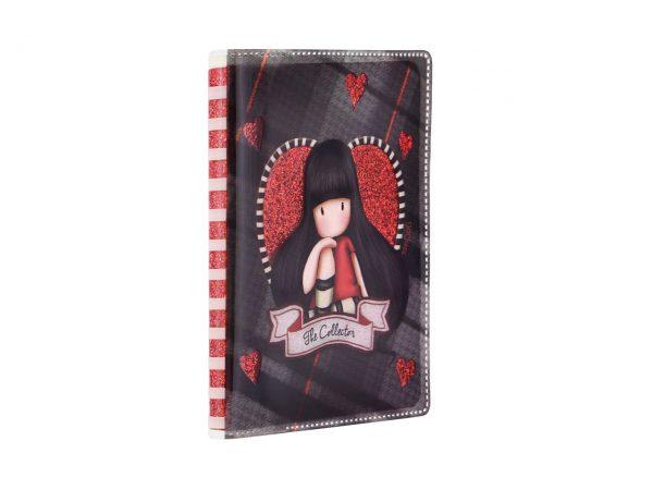 Santoro Gorjuss Tartan Mini Glitter Laminated Notebook The Collector