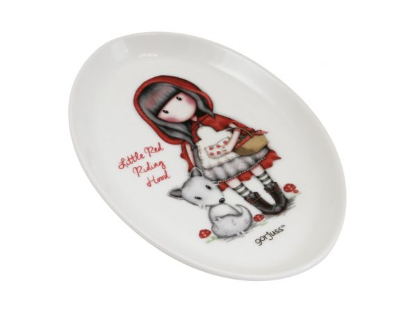 Santoro Gorjuss Trinket Tray Dish Ceramic Little Red Riding Hood