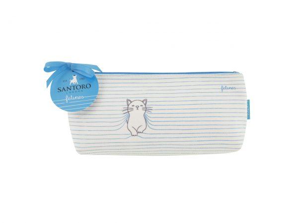 Santoro Felines Cat Medium Accessory Bag Pencil Case Wash Bag Purrrfect Place
