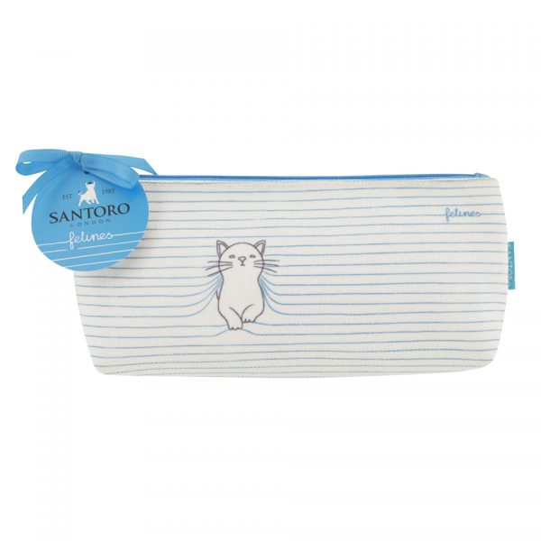 Santoro Felines Cat Medium Accessory Bag Pencil Case Wash Bag Purrrfect Place