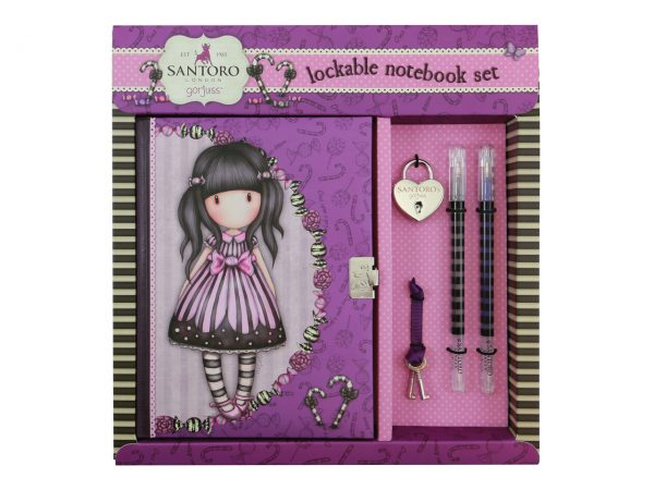 Santoro Gorjuss Lockable Notebook Set Sugar and Spice