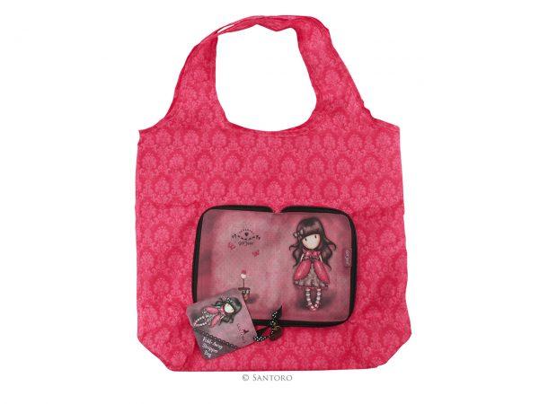 Santoro Gorjuss Folding Shopper Shopping Bag Ladybird