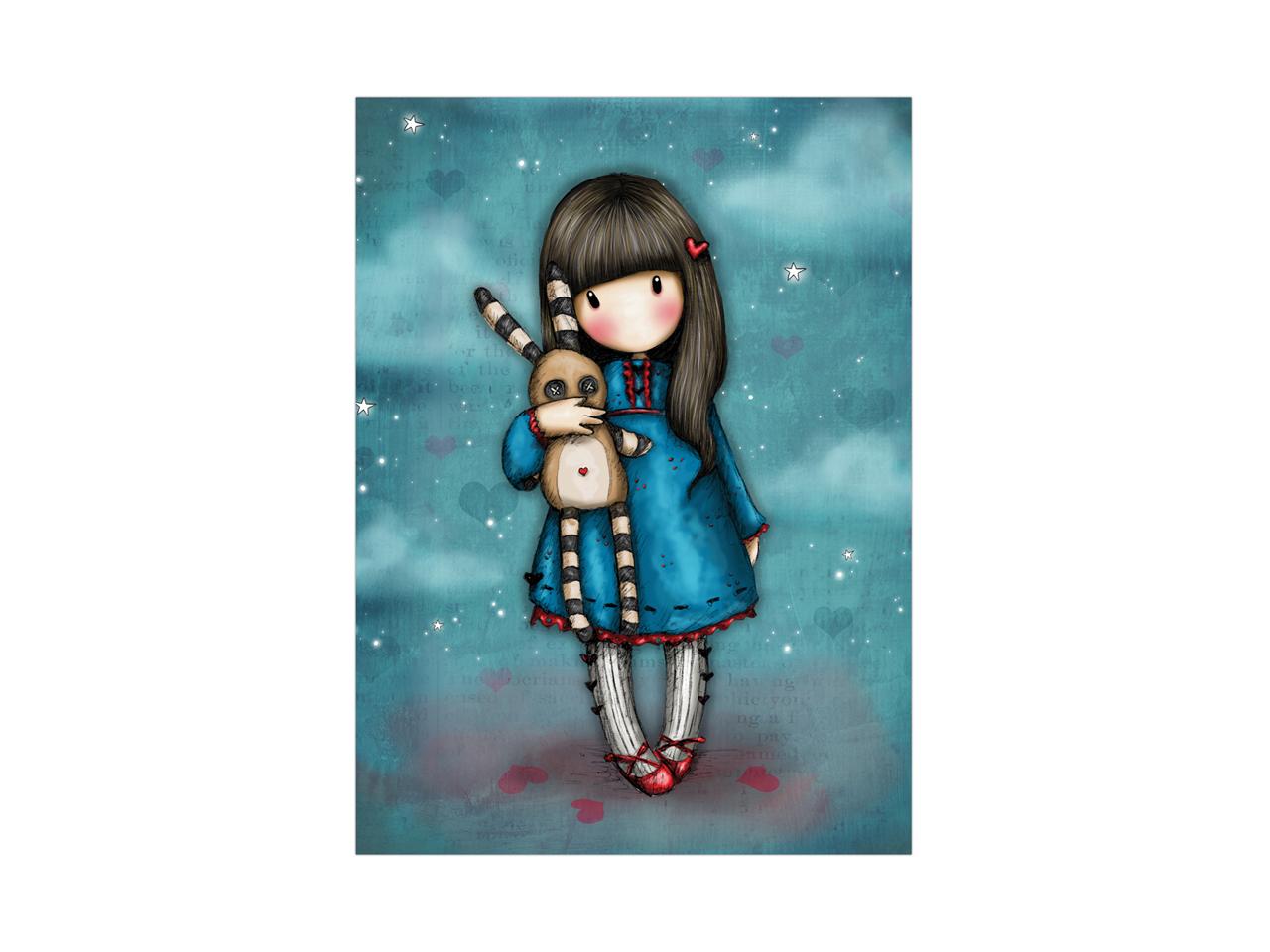 Santoro Gorjuss Gift Occasion Card Blank Hush Little Bunny
