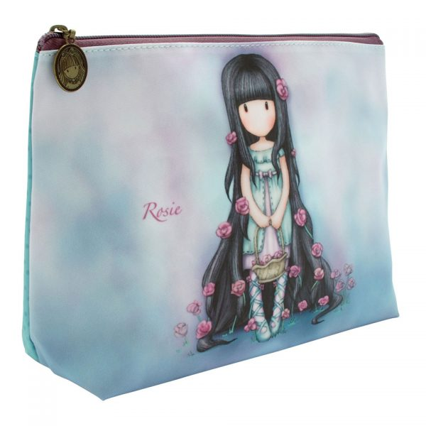 Santoro Gorjuss Large Coated Accessory Case Wash Bag Makeup Rosie