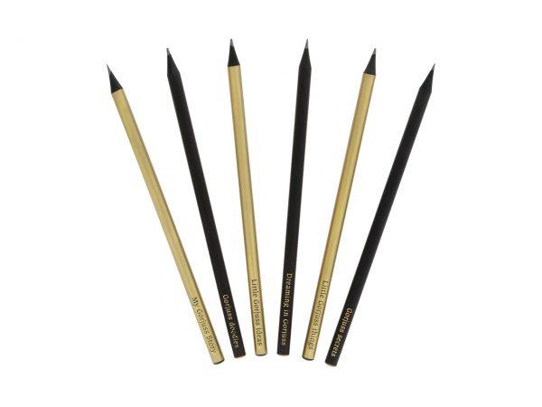 Santoro Gorjuss Classic Stripe Boxed Pencil Set Ladybird HB Pencils
