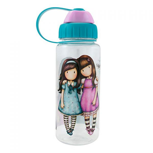 Santoro Gorjuss Cityscape Plastic Water Bottle Friends Walk Together 500ml