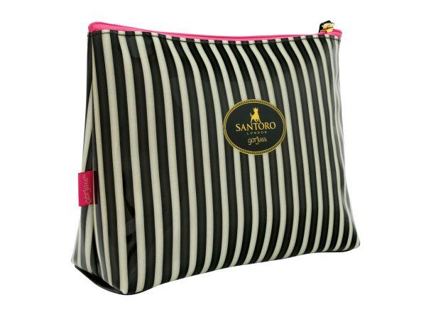 Santoro Gorjuss Classic Stripe Wash Bag Accessory Case Ladybird