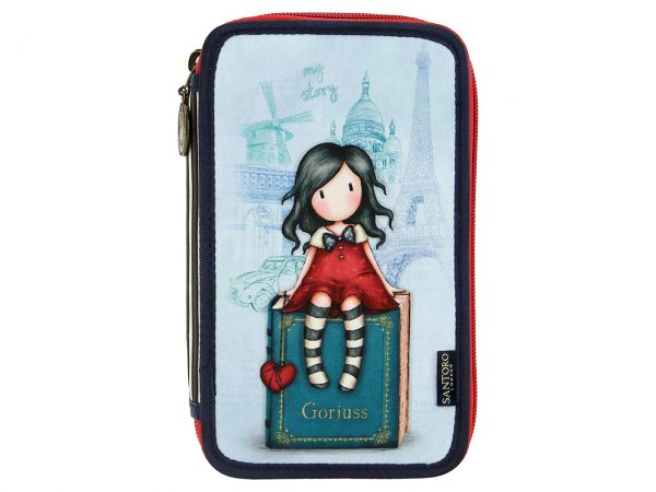 Santoro Cityscape Triple Filled Pencil Case My Story