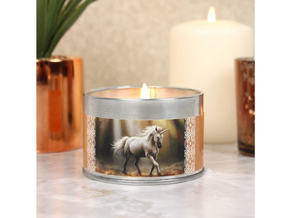 Glimpse Unicorn Tin Candle Sandalwood Anne Stokes
