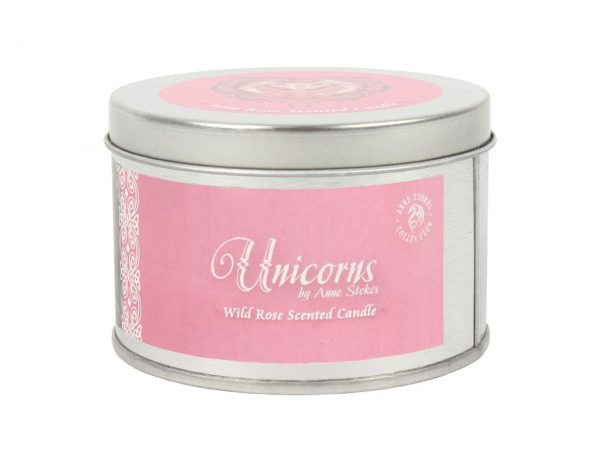 Pure Heart Unicorn Tin Candle Wild Rose Anne Stokes