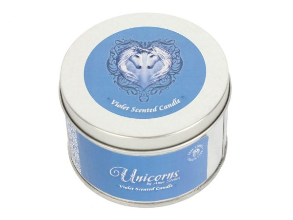 Solace Unicorn Tin Candle Violet Anne Stokes