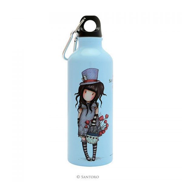 Santoro Gorjuss Metal Water Bottle 500 ml The Hatter