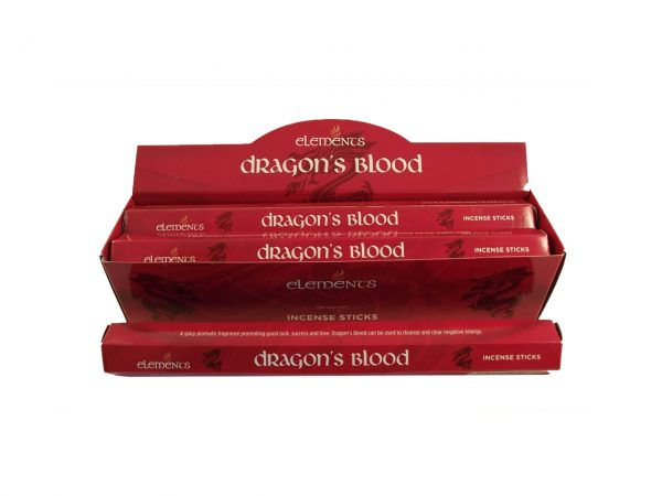 Elements Dragon's Blood Incense Sticks Cleansing Love Money Good Luck Success