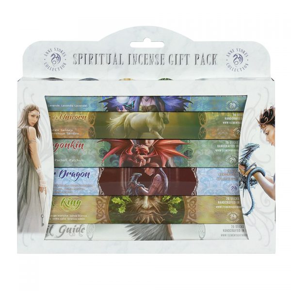 Spiritual Incense Stick Gift Pack Anne Stokes Fairy Dragon Angel Unicorn