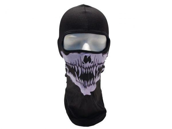 Fanged Skull Balaclava Ski Mask Skeleton Face Accent Clothing