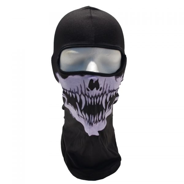 Fanged Skull Balaclava Ski Mask Skeleton Face Accent Clothing