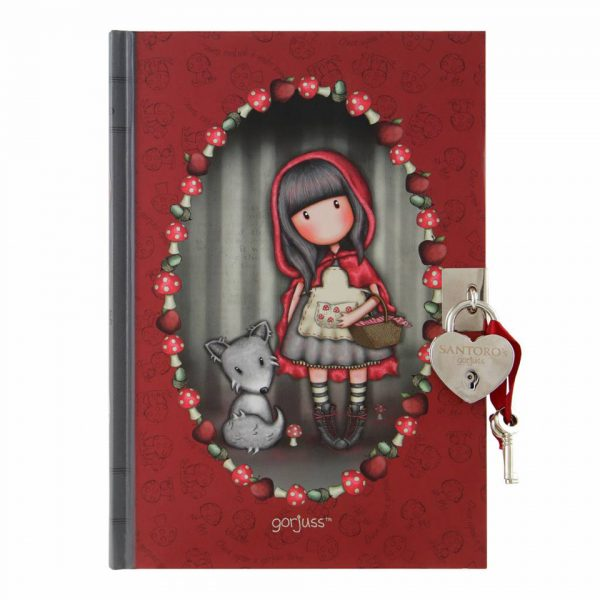 Santoro Gorjuss Lockable Notebook Little Red Riding Hood