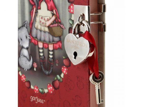 Santoro Gorjuss Lockable Notebook Little Red Riding Hood