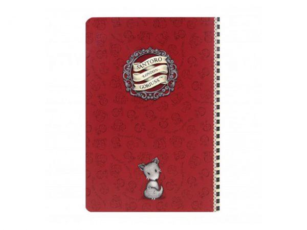Santoro Gorjuss Stitched Notebook A5 Little Red Riding Hood