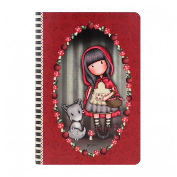 Santoro Gorjuss Stitched Notebook A5 Little Red Riding Hood